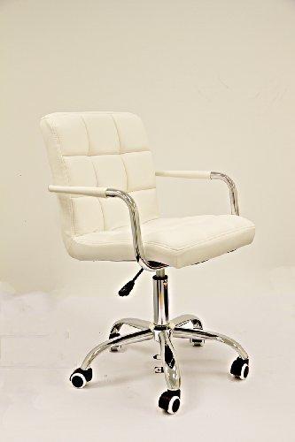 Design schreibtischstuhl weiß  Designer-Drehstuhl aus PU-Leder / Bürostuhl / Schreibtischstuhl ...