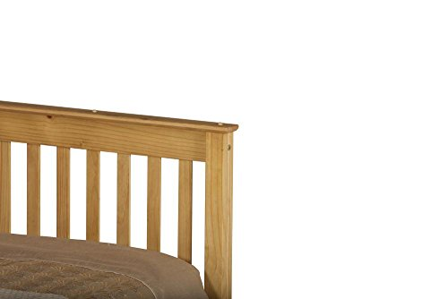 Happy Beds Chester Solid Waxed Pine Wooden Bed Space Bedroom Furniture Frame 5' King Size 150 x 200 cm