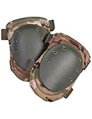 KombatUK Spec-OPS Armour Genouillères (UTP). Couvercle x-shell. Bretelles élastiques avec Velcro.
