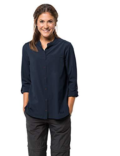 Jack Wolfskin Damen Victoria ROLL-UP Shirt W Bluse, Midnight Blue, M