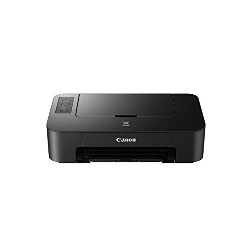 Canon PIXMA TS205 Farbtintenstrahl-Drucker (2 Kombipatronen, 4.800x1.200 dpi, Randlosfotos im Format 10x15 cm, Auto Power Off/ On) schwarz