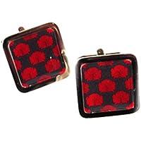 Vintage Nouveau Poppies Design Chrome Cufflinks