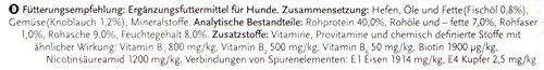 8in1 Bierhefe Tabletten (Nahrungsergänzung, für gesunde Haut und glänzendes Hundefell, reduziert nährstoffmangel-bedingtes Haaren), 1 Dose (260 Tabletten) - 2