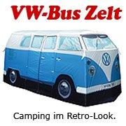 VW Zelt blau - Volkswagen Bulli Camping Bus Zelt - Campervan VW Bully 1965 Design - Geschenkidee für VW Freunde