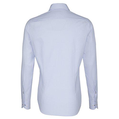 Seidensticker Herren Langarm Hemd UNO Super Slim Spread Kent Tape blau kariert 675770.12 Blau
