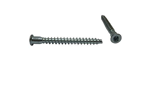 50 x SAMWERK/® M/öbelschrauben M/öbelschraube M/öbel Schraube Stahl verzinkt 6,4 x 50 mm