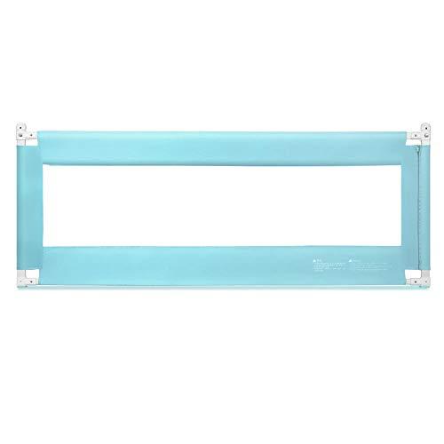 Barrières MAHZONG Garde-Corps 5 pour dossiers de sécurité pour lit de bébé, Hauteur de Levage Verticale -150cm, 180cm, 200cm (Couleur : Bleu, Taille : L-150cm)
