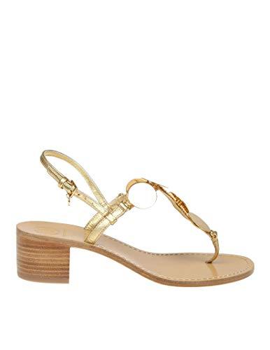 Tory Burch Damen 55720709 Gold Leder Sandalen