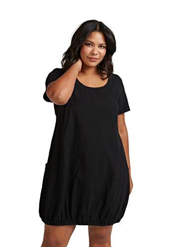 Zizzi Damen Weiches Kleid, Schwarz (Black 0199), 42 (Herstellergröße: S (42/44))