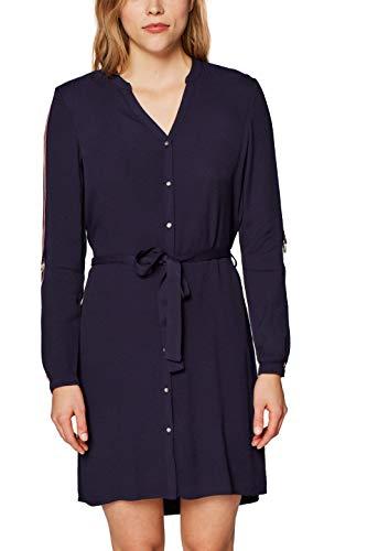 ESPRIT Damen 128EE1E016 Kleid, Blau (Navy 400), Herstellergröße:38
