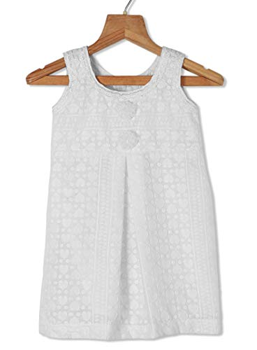 Urban Vogue Baby Frock White Cotton Frock (022) (6-9 Months) (6-12 Months)