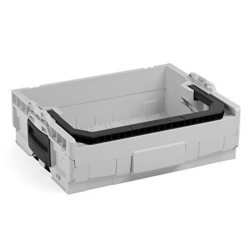 Bosch Sortimo LT-BOXX 136 in grau | Werkzeugkoffer leer| Werkzeugkasten leer Kunststoff | Idealer Werkzeugkoffer offen