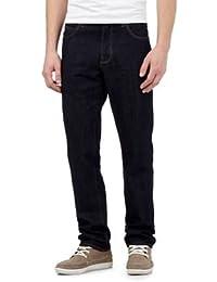 Red Herring Men Dark Blue Rinse Wash Straight Jeans