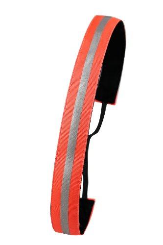 Ivybands Anti-Rutsch Haarband Reflektierendes, Neon Orange, One size