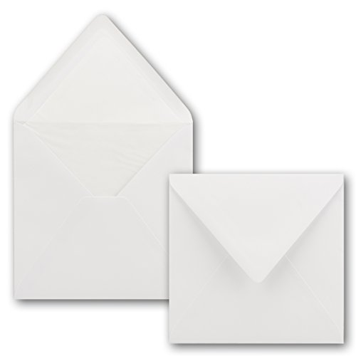 Umschläge 16 x 16 cm | 25 Stück | weiß