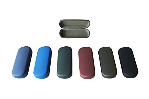 """Brillenetui """"MELINA"""" - 160 mm x 65 mm x 30 mm - farbig bunter Mix (5 Stück)"""