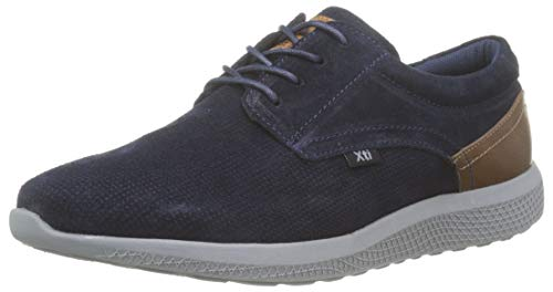 XTI 49184, Zapatos Cordones Oxford Hombre, Azul Navy