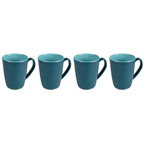 Melamin Geschirr 4 Tassen Campinggeschirr Kaffeebecher Teetasse 4 teilig Tafelgeschirr Camping Outdoor Becher Tasse mit Henkel modernes Melamingeschirr Picknickgeschirr in Steingut Optik Henkeltasse