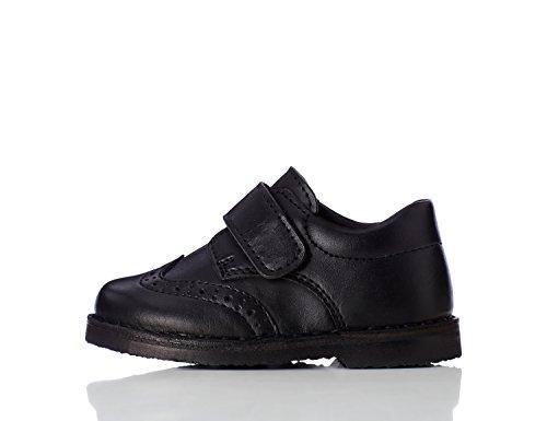 RED WAGON Jungen Budapester-Schuhe mit galttem Leder, Schwarz (Black), 26.5 EU
