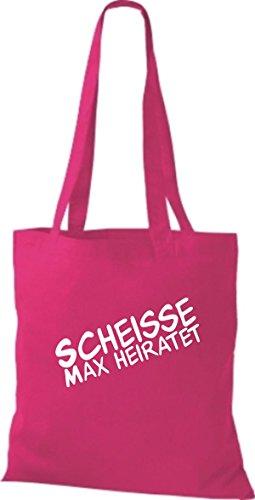 Shirtstown Stoffbeutel JGA Scheisse ... Heiratet viele Farben pink