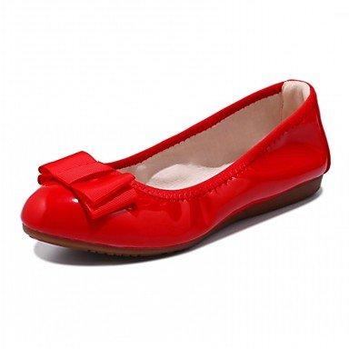 Wuyulunbi @ Zapatos Para Mujer Primavera Otoño Comfort Novedad Ligero Pisos Suelas Planas Punta Redonda Bowknot Para Ropa Casual Rojo Negro Beige Us6 / Eu36 / Uk4 / Cn36