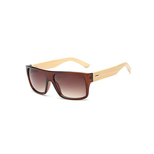 Zbertx Original Holz Bambus Sonnenbrille Männer Frauen gespiegelt Uv400 Sonnenbrille Echtholz Shades Gold Blau Outdoor Brille, C8