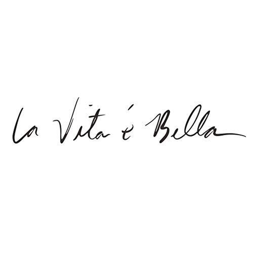 "Ruikey""la vita è bella"" frase italiana etiqueta de la pared Vinilo decorativo pegatina pared Fashion Design DIY Wall Decoration House Decoration Babyroom Decoration 55x11cm(Negro)"