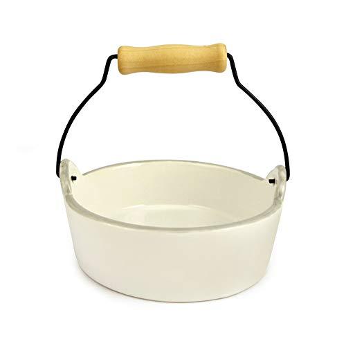 CHEN. PET Bowl-Cute Hand Keramik-Katze Bowl Cat Food FKKW-Fichter-Lieferung Keramik-Bowl Mikrowelle,White,13.5 * 4.3cm -