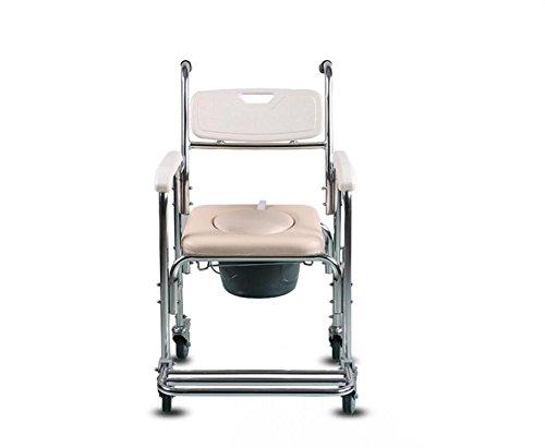 Bariatric Faltbare Rollstuhl (soumao Schwangere Stuhl Comoda Gurt Rollstühle für die älteren die älteren der Dusche WC Sitz Stuhl mit Sitz)