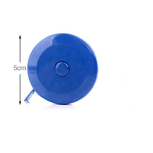 Rekkle Automática retráctil de Tela del Cuerpo Mini Cinta métrica de Doble Cara Cinta de medición portátiles Niños automática retráctil de plástico Altura Regla Color al Azar