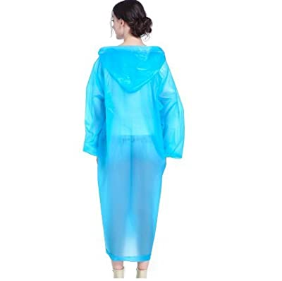 TBOP Women's Non-Disposable PVC Light Poncho Raincoat (Blue, Free Size)