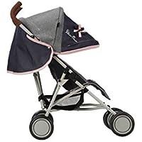 Silver Cross Pop Dolls Pushchair / Stroller. Age 18 months - 3 years. Handle 61cm - Vintage Blue Fabric