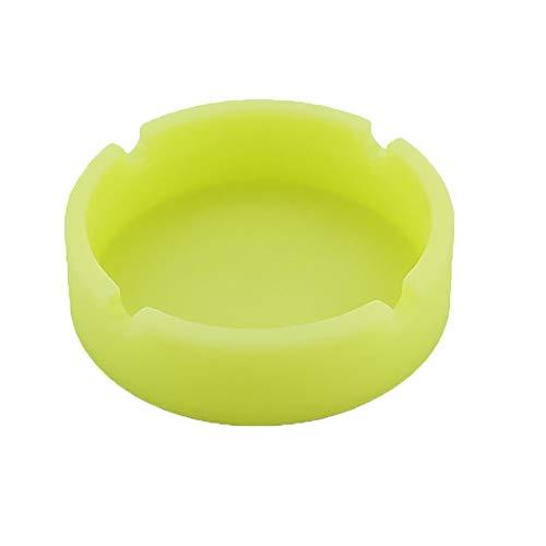 Preisvergleich Produktbild TAOtTAO Silicone Ashtray Leuchtender Silikon-Gummi-Hochtemperatur-hitzebes... Runder Designaschenbecher (Gelb)