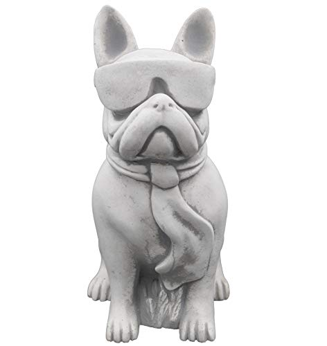 gartendekoparadies.de Massiver Stein Hund lustige Bulldogge Gartendeko aus Steinguss frostfest -
