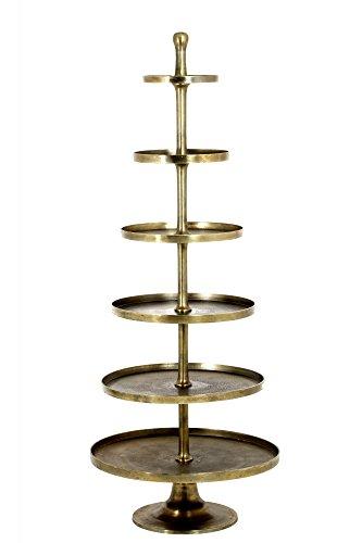 Riesige Etagere 200cm Höhe vernickelt Bronze Gold Gebäckschale