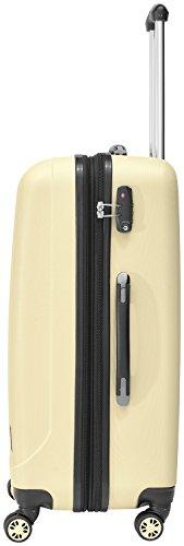 Packenger Kofferset - Velvet - 3-teilig (M, L & XL), Cafe-au-Lait, 4 Rollen, Koffer mit TSA- Schloss und Erweiterungsfach, Hartschalenkoffer (ABS) - 4