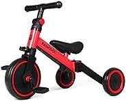 Kiwicool 3 in 1 Kids Tricycles for 1.5-4 Years Old Kids Trike 3 Wheel Bike Boys Girls 3 Wheels Toddler Tricycles