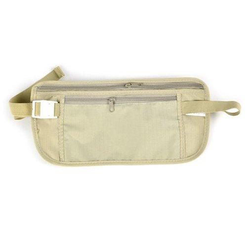Verstellbare Taille-khaki (Frauen Casual Sports Reisen Aufbewahrung Reißverschluss Tasche Geld aus, Taille Gürtel, khaki)