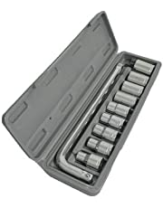 Aiwa TM Plastic Socket Wrench Set (Grey, 10-Pieces)