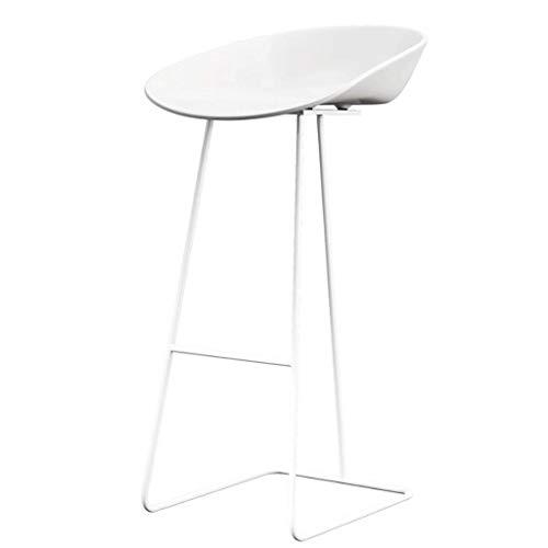 YUN Eisen Barhocker Simple Home Rückenlehne Hochstuhl Kreative Barhocker (Farbe : Weiß, größe : 75cm) - Eisen Barhocker