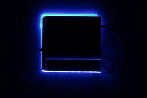 """für Playstation 4 Slim Wand Halterung LED RGB New für PS4 mit Fernbedienung """"Preise inkl. MwSt."""""""