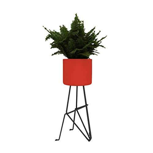 TY-Blumenregal MMM@ Europäische schmiedeeisen Blume Stand Balkon Wohnzimmer Boden Art kreative einfache TV Geld Sofa Ecke hauptkunst Dekoration (Farbe : Red, größe : 65 * 23cm) (Stand Tv Red)