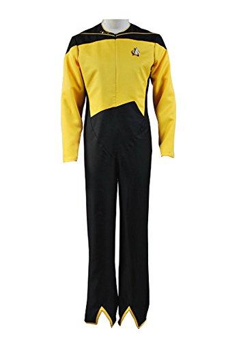Star Trek Security/Operations Duty Uniform Gelb Jumpsuit Cosplay Kostüm Herren (Trek Kostüm Star Jumpsuit)