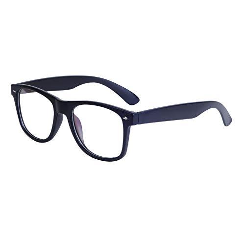 JoXiGo Herren Brille Ohne Stärke Wayfarer Groß Bold Large Rahmen Dekobrille mit Brillenetuis