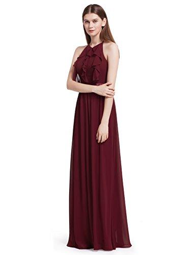 Ever Pretty Elegantes Neckholder Rüschen justierbares Brautjungfern Kleid Festkleid 46 Größe...