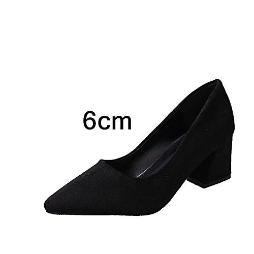 FLYRCX Ladies' ruvida punta tacco Scarpe da lavoro personalità Sexy party tacchi alti dimensione europea: 33-41 A