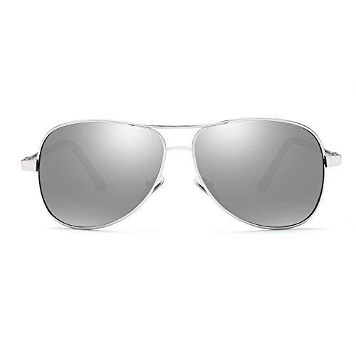 SCJS Herren Sonnenbrille Myopia Polarisierte Sonnenbrille UV400-Schutz Sonnenbrille Fahrsonnenbrille Neutral Sonnenbrille (0-350 Grad ohne Astigmatismus) (Farbe: C)