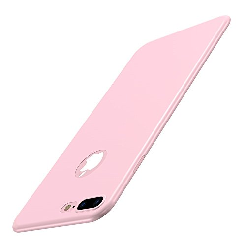 Custodia iPhone 7 Plus Cover, Qissy®Custodia Placcatura TPU Bumper Case Silicone Anti-graffio Copertura Tacsa Caso per apple iPhone 7 Plus/ 8 Plus 5.5 Case Cover Pink