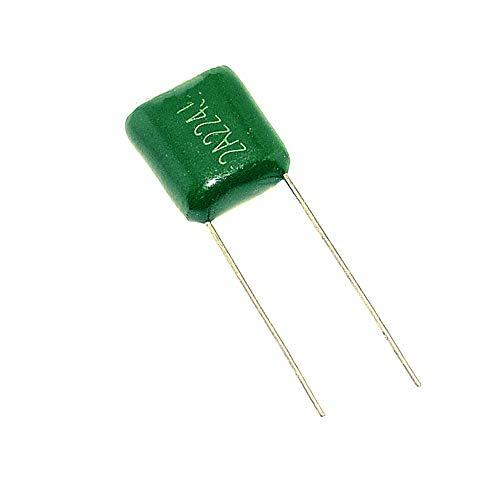 Spacing 2A224J Kondensatoren, 100 V, 0,22 UF, 220 NF, Polyester, 100 Stück -