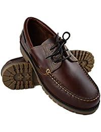 Zerimar Leder Bootsschuhe für Herren Übergröße Segelschuhe Herren Sportliche  und Elegante Schuhe für Männer 100% 433539a746